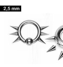 2,5 x 12 mm BCR Ring mit Spitzen