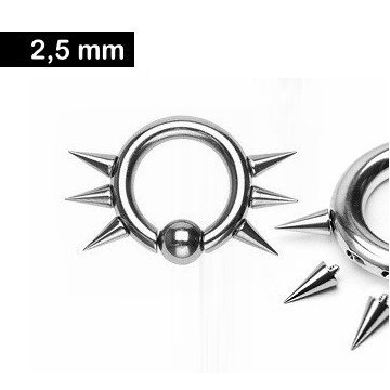 Piercing Ring 2,5 x 12 mm Spitzen