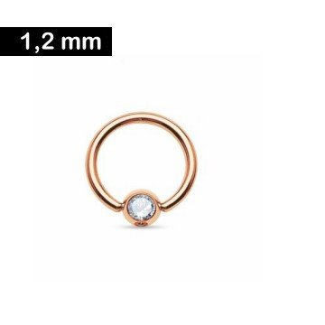 Ball Closure Ring 1,2 x 8 mm mit Stein