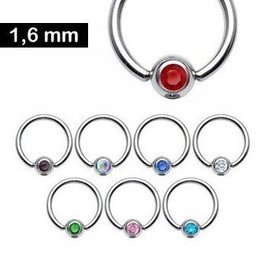 Piercing Ring mit Glitzerstein