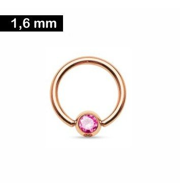BCR-Ring 1,6 x10 mm mit pinken Stein