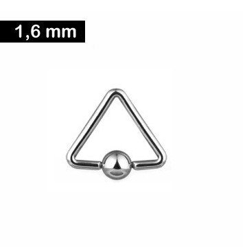 1,6 mm Piercingring dreieckig