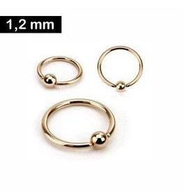 Piercing Ring rosefärbig