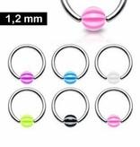 1,2 mm Piercing Helix Ring mit UV-Kugel