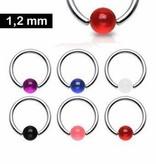 Piercing Helix 1,2 mm mit UV-Kugel