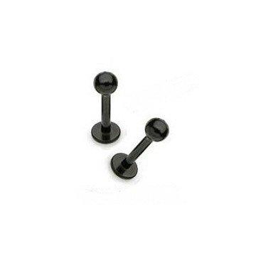 1,2 mm Tragus Piercing schwarz