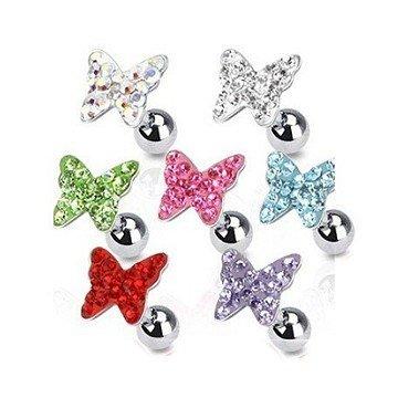 Schmetterling Traguspiercing - 7 Farben