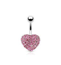 Bauchnabelpiercing Herz Pink