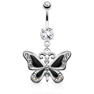 Schmetterling Bauchnabelpiercing schwarz