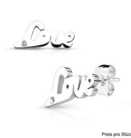 Ohrstecker Edelstahl Love