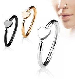 0,8 mm Nasenpiercing Ring Herz
