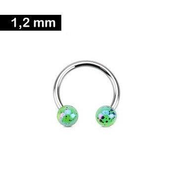 Hufeisen Ring 1,2 x 10 mm Grün