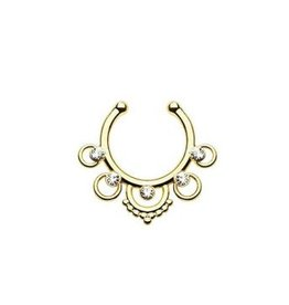 Fake Piercing Septum goldfärbig