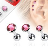 1,2mm Flat Piercing - 3 er Set Angebot Pink