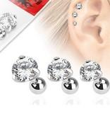 1,2mm Flatpiercing - 3 er Set Angebot kristall