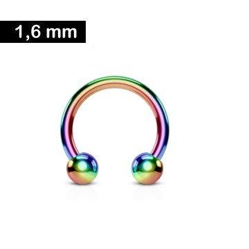 1,6 mm Brustpiercing - regenbogenfärbig