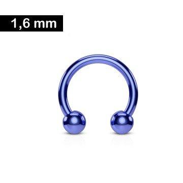 1,6 mm Hufeisenring eloxiert