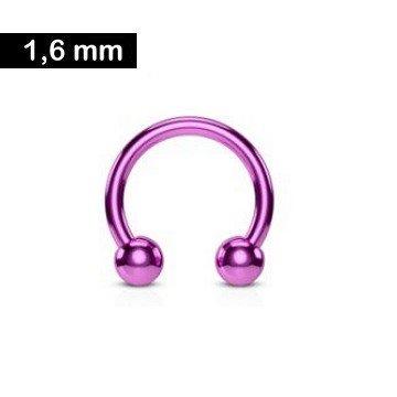 1,6 mm Hufeisenring - violett