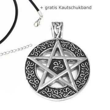 Pentagramm Anhänger aus Edelstahl