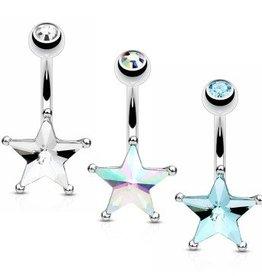 Bauchnabelpiercing Stern