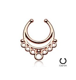 Ornament Fake Septum Piercing rosegold