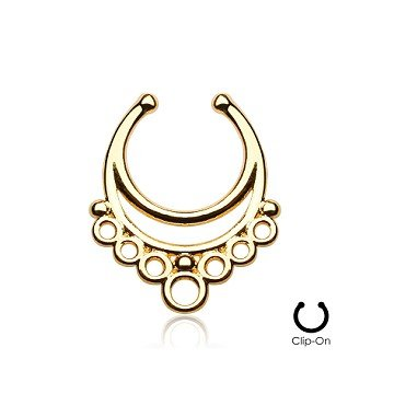 Ornament Fake Septum Piercing goldfärbig