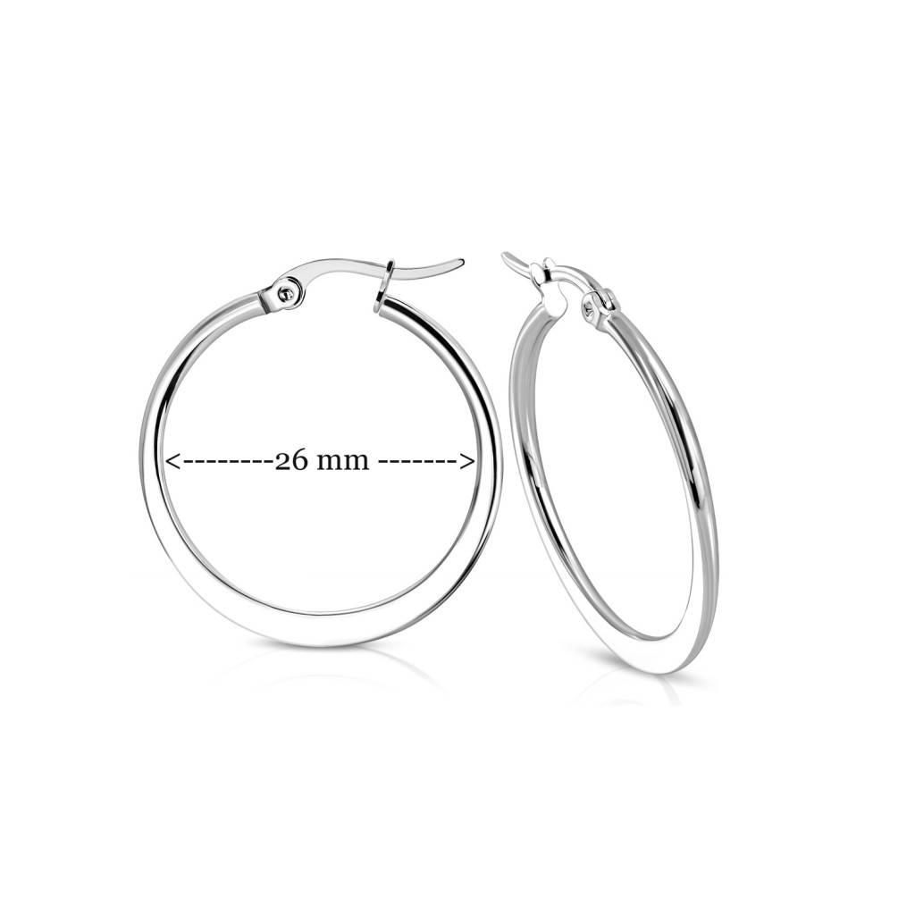 Creolen Ohrringe 26 mm für Damen
