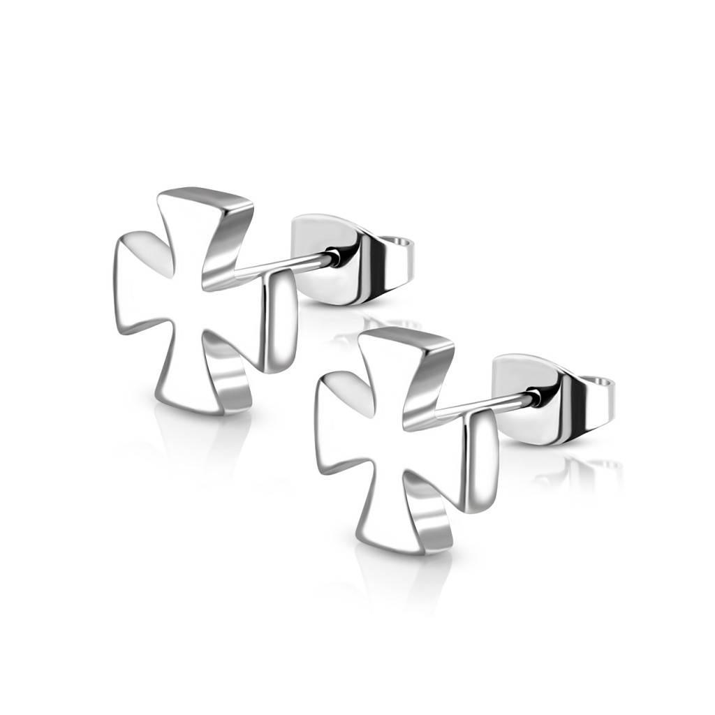 Eisernes Kreuz Ohrring aus Edelstahl