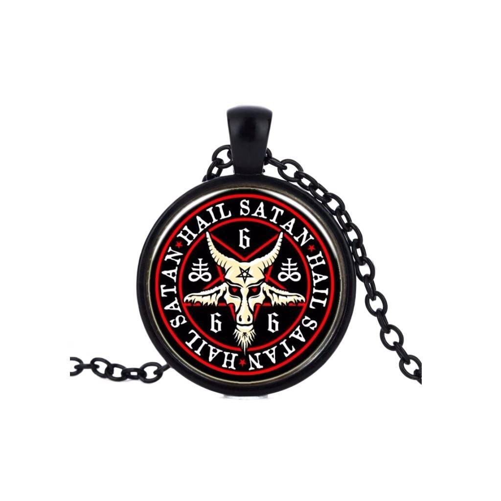 Gothic Kette Pentagramm - Satan 666