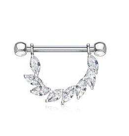 Piercing Brustwarze kristall