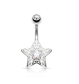 Kristall Bauchpiercing  Stern