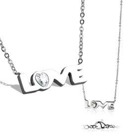 Edelstahlkette Love