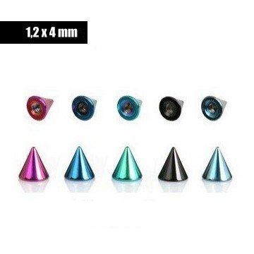 Piercing Kegeln 1,2 mm - 4x4mm