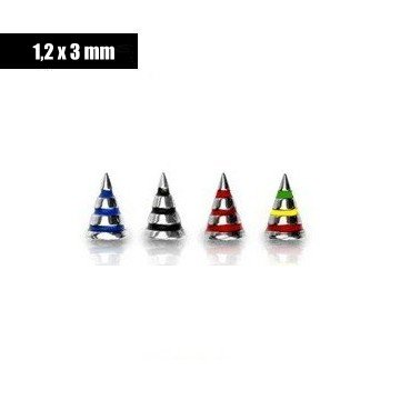Piercingkegel 1,2 mm extra - 4 Farben
