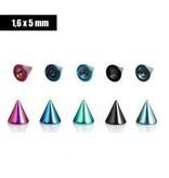 5 mm Kegel eloxiert - 4 farben lieferbar