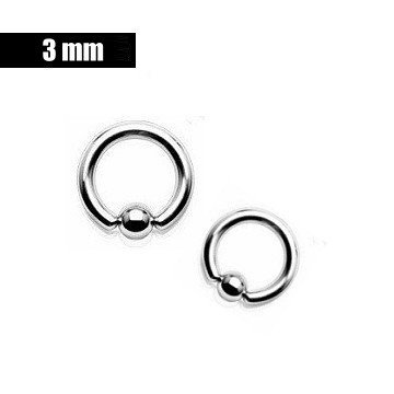 3 mm Piercingring - 3 Größen