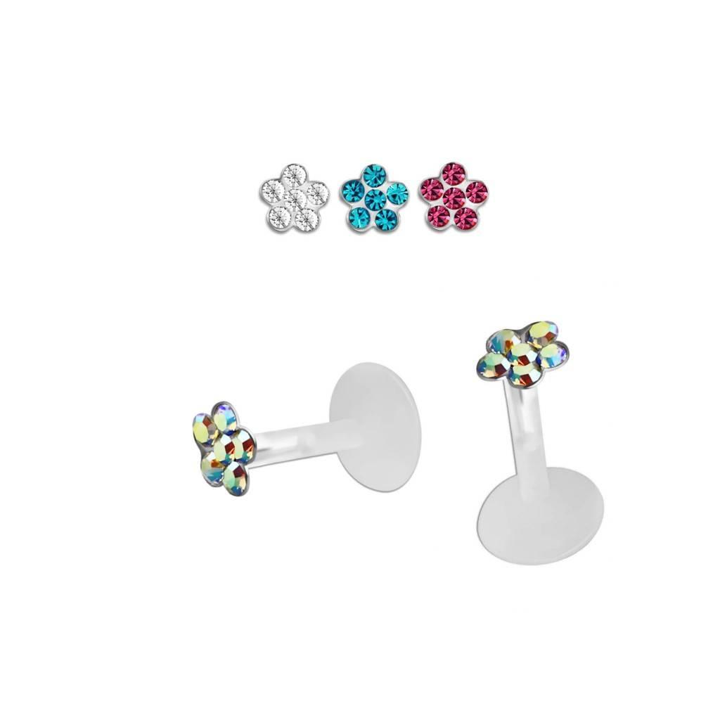 1,2mm Labret Stecker Blume - 3 Farben