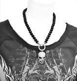 Damen Halskette mit Totenkopf Anhänger