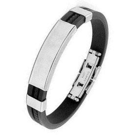 Kautschuk Armband schwarz