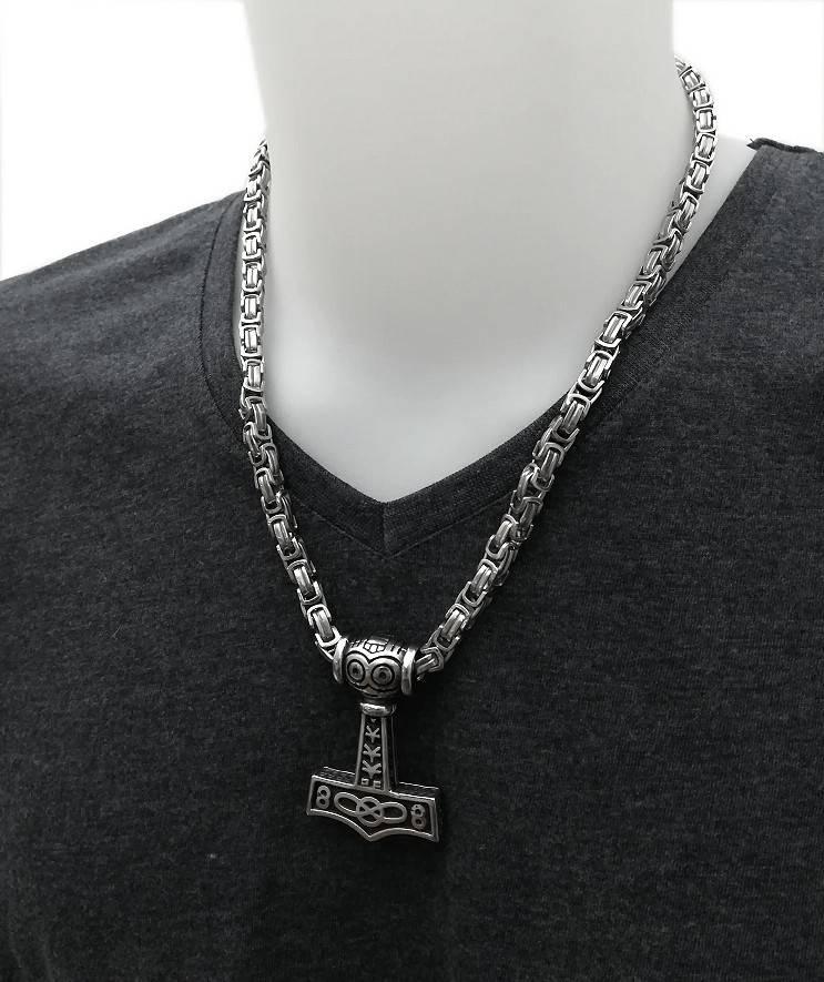Thor Hammer Königskette aus Edelstahl