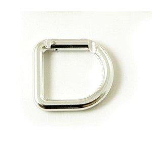 Casstrom D-Ring - zilverkleur