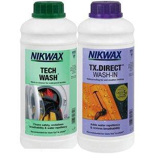 NikWax Twins voordeelverpakking: TX Direct Wash-in & Tech Wash - 2x 1 Liter Variant