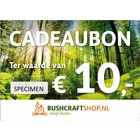 Bushcraftshop Cadeaubon twv € 10,-