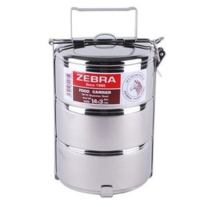 Zebra Stainless Steel-Food Carrier 14cm x 3 layers