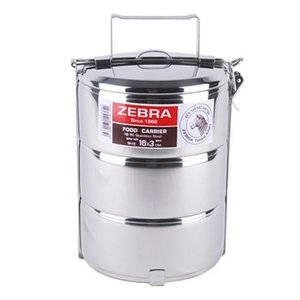 Zebra Stainless Steel-Food Carrier 16cm x 3 layers