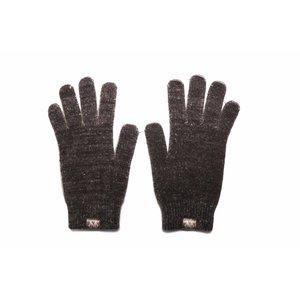 Weft Possum/Merino Handschoenen - Lange Vingers - Black Marl