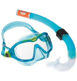 AquaLung Aqua Lung Reef DX 2 Clear Lens + Snorkel Aqua KIDS