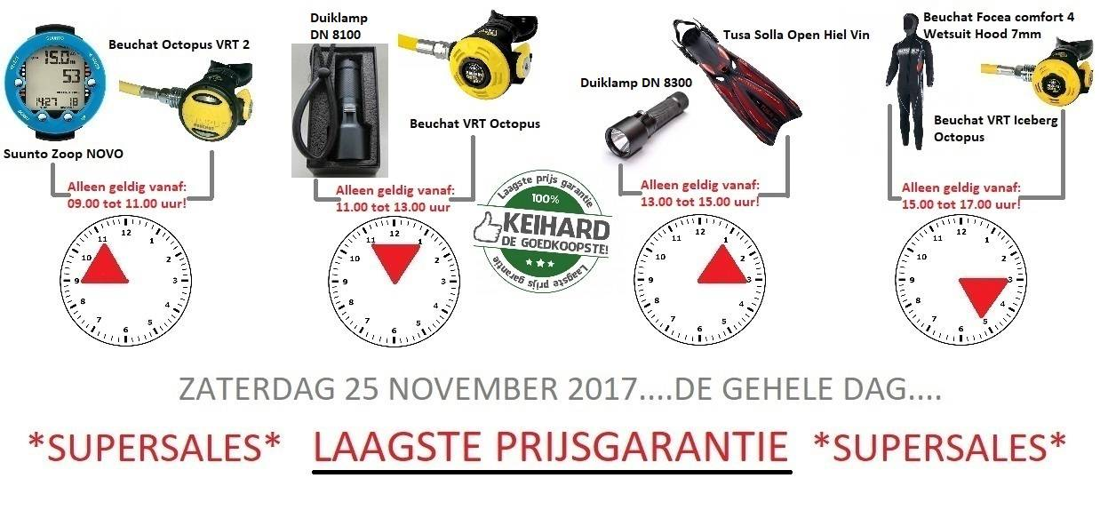 SUPERSALES BIJ ESKO DIVEWORLD ZATERDAG 25 NOVEMBER 2017