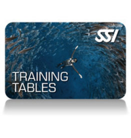 SSI Training Tables Freedive Specialty