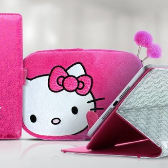 "Hello Kitty roze tablet case (7/8"")"
